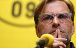 Juergen Klopp durante entrevista coletiva em Dortmund.  15/04/2015  REUTERS/Ina Fassbender