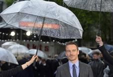 Ator Michael Fassbender durante evento em Londres. 12/05/2014.  REUTERS/Toby Melville