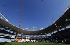 Estádio Olímpico João Havelange, o Engenhão, durante obras de renovação, no Rio de Janeiro, no ano passado. 06/08/2014 REUTERS/Sergio Moraes