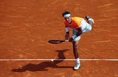 O tenista espanhol Rafael Nadal durante jogo contra seu compatriota David Ferrer no torneio de Monte Carlo, em Mônaco, nesta sexta-feira. 17/04/2015 REUTERS/Eric Gaillard
