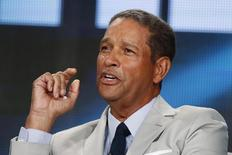 "Television journalist Bryant Gumbel participates in a panel for the HBO television show ""Real Sports with Bryant Gumbel"" during the TCA presentations in Pasadena, California, January 8, 2015. REUTERS/Lucy Nicholson"