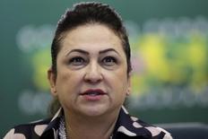 Ministra da Agricultura, Kátia Abreu, durante entrevista coletiva em Brasília, em foto de arquivo.   22/01/2015   REUTERS/Ueslei Marcelino