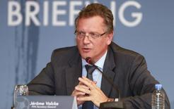 FIFA Secretary General Jerome Valcke speaks during news conference in Doha February 25, 2015.   REUTERS/Mohammed Dabbous (QATAR - Tags: SPORT SOCCER)
