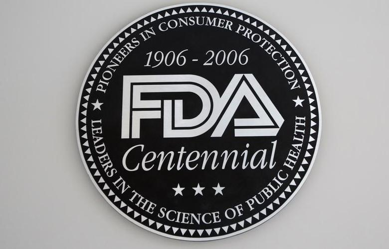The U.S. Food and Drug Administration (FDA) logo at the lobby of its headquarters in Silver Spring, Maryland August 14, 2012. REUTERS/Jason Reed