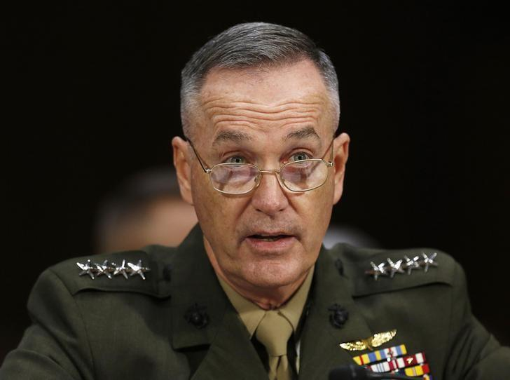 Commandant of the Marine Corps General Joseph Dunford, Jr., testifies before a Senate Armed Services Committee on military budget matters on Capitol Hill in Washington January 28, 2015. REUTERS/Gary Cameron