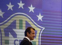 Técnico Dunga na convocação para a Copa América. 05/05/2015 REUTERS/Ricardo Moraes