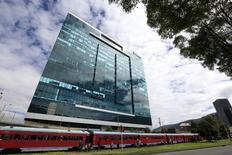 The building of the Canadian Pacific Rubiales Petroleum Company is seen in a street in Bogota in this photo taken on March 8, 2015. REUTERS/Jose Miguel Gomez