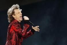 Mick Jagger, vocalista do Rolling Stones, durante show em Madri.  25/06/2015  REUTERS/Juan Medina