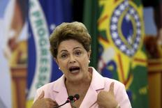 Presidente Dilma Rousseff em evento no Palácio do Planalto. 6/5/2015 REUTERS/Ueslei Marcelino