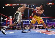 Mayweather e Pacquiao se enfrentam em Las Vegas. 02/05/2015  REUTERS/Steve Marcus