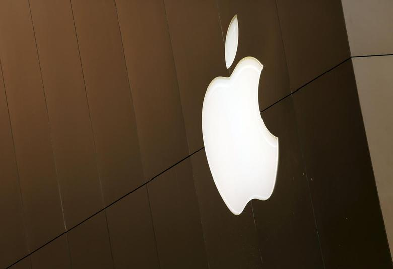 The Apple logo is seen at the flagship Apple retail store in San Francisco, California April 27, 2015. REUTERS/Robert Galbraith