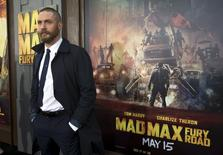 "Ator Tom Hardy na estreia do ""Mad Max"" em Hollywood. 7/5/2015 REUTERS/Mario Anzuoni"