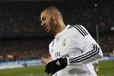 Atacante do Real Madrid Karim Benzema em foto de arquivo. 07/01/2015 REUTERS/Juan Medina
