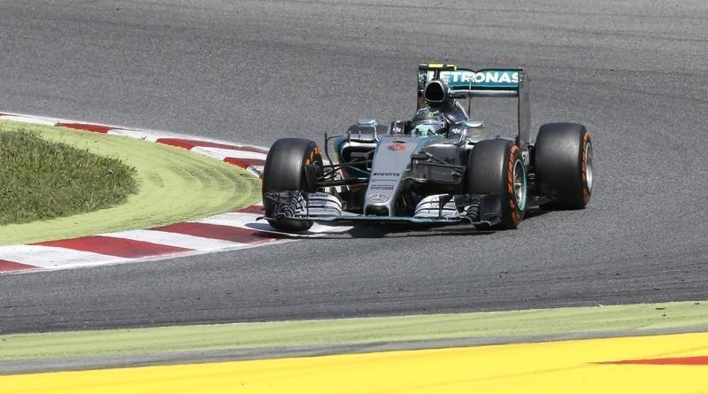 روزبرج سائق مرسيدس يحق انتصاره الأول هذا الموسم في اسبانيا