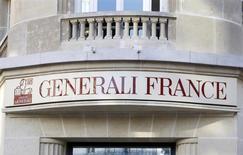 Generali, troisième assureur européen, fait état d'une hausse de 6% de son bénéfice d'exploitation au premier trimestre à 1,326 milliard d'euros grâce à la croissance de son activité d'assurance vie. /Photo d'archives/REUTERS/Charles Platiau