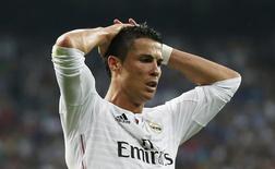 Atacante Cristiano Ronaldo, do Real Madrid, durante partida de volta da semifinal da Liga dos Campeões contra a Juventus, em Madri. 13/05/2015 REUTERS/Juan Medina
