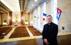 Monsignor Joseph Trinh has been a pastor at St. Helena's Parish for 17 years in Philadelphia, Pennsylvania, United States, May 12, 2015.  REUTERS/Mark Makela