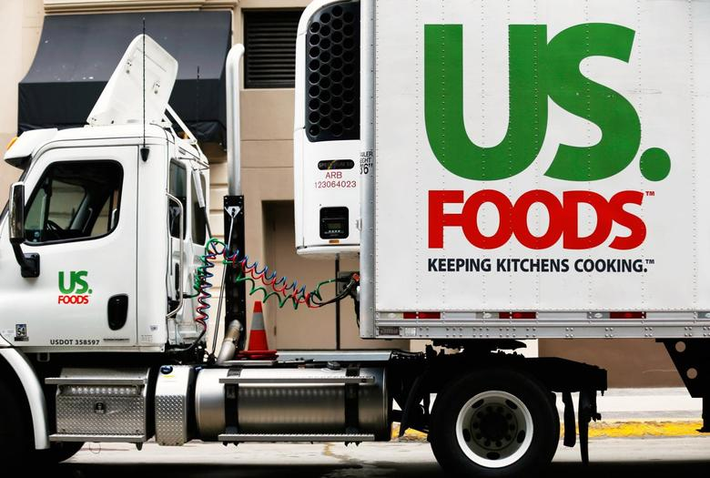 A US. Foods truck is shown on  delivery in San Diego, California in this file photo from October 23, 2013. REUTERS/Mike Blake/Files