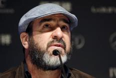 French actor and former soccer player Eric Cantona attends a news conference ahead of the Laureus World Sports Awards ceremony in Shanghai April 14, 2015. REUTERS/Aly Song