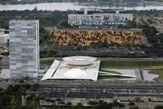 Vista aérea do Congresso Nacional, em Brasília. 20/01/2014 REUTERS/Ueslei Marcelino