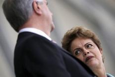 Presidente Dilma Rousseff e presidente do Uruguai, Tabaré Vázquez, no Palácio do Planalto. 21/05/2015 REUTERS/Ueslei Marcelino