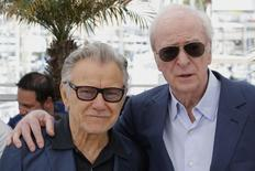 "Cast members Harvey Keitel (L) and Michael Caine pose during a photocall for the film ""Youth"" in competition at the 68th Cannes Film Festival in Cannes, southern France, May 20, 2015. REUTERS/Regis Duvignau"