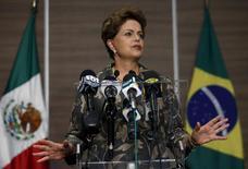 Presidente Dilma Rousseff em entrevista na Cidade do México 27/5/2015 REUTERS/Edgard Garrido