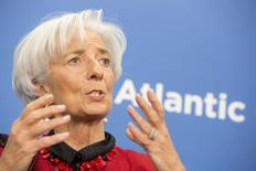 International Monetary Fund Managing Director Christine Lagarde speaks at the Atlantic Council Headquarters April 9, 2015 in Washington, DC. REUTERS/IMF Staff Photo/Stephen Jaffe/Handout via Reuters