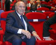 FIFA President Sepp Blatter arrives for the opening ceremony of the 65th FIFA Congress in Zurich, Switzerland, May 28, 2015.   REUTERS/Arnd Wiegmann
