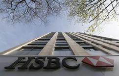 La casa matriz del HSBC en París, abr 9 2015. HSBC Holdings Plc planea recortar miles de empleos a nivel global y alista un anuncio para la próxima semana, reportó el lunes Sky News, citando fuentes sin identificar.  REUTERS/Gonzalo Fuentes
