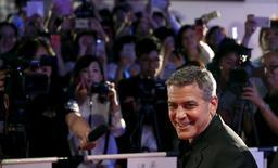 """George Clooney participa de lançamento do filme """"Tomorrowland"""" em Tóquio. 25/5/2015.  REUTERS/Toru Hanai"""