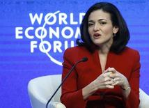 COO of Facebook Sheryl Sandberg  in Davos January 22, 2015. REUTERS/Ruben Sprich