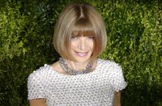 Anna Wintour, editor-in-chief of American Vogue, arrives for the American Theatre Wing's 69th Annual Tony Awards at the Radio City Music Hall in Manhattan, New York June 7, 2015.  REUTERS/Eduardo Munoz
