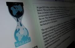 El sitio web de WikiLeaks vista en un ordenador en Hoboken, EEUU, nov 28 2010. WikiLeaks publicó el viernes más de 60.000 cables diplomáticos de Arabia Saudita y dijo en su página web que publicará medio millón más en las próximas semanas. REUTERS/Gary Hershorn