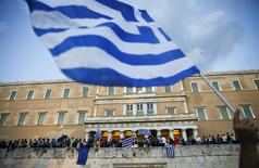 Protesters occupy the parliament grounds, during a rally calling on the government to clinch a deal with its international creditors and secure Greece's future in the Eurozone, in Athens June 18, 2015. REUTERS/Paul Hanna