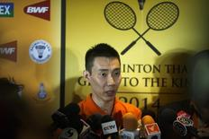 Malaysia's Lee Chong Wei  in Bangkok November 21, 2014. REUTERS/Athit Perawongmetha/Files