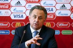 Ministro dos Esportes da Rússia, Vitaly Mutko, durante entrevista coletiva.   10/06/2015  REUTERS/Maxim Zmeyev