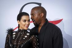 Television personality Kim Kardashian arrives with Kanye West to attend the 2015 CFDA Fashion Awards in New York in this  June 1, 2015 file photo.  REUTERS/Lucas Jackson/Files