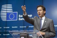 Pesidente do Eurogrupo, Jeroen Dijsselbloem, durante entrevista coletiva em Bruxelas.   22/06/2015 REUTERS/Yves Herman