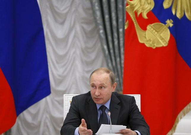 Russian President Vladimir Putin speaks during a meeting of the presidential council on science and education at the Kremlin in Moscow, Russia, June 24, 2015.  REUTERS/Sergei Karpukhin