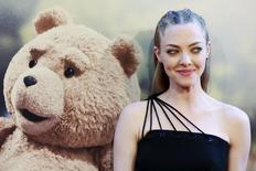 "Cast member Amanda Seyfried poses on the red carpet of the movie premiere of ""Ted 2"" in New York June 24, 2015.     REUTERS/Shannon Stapleton"