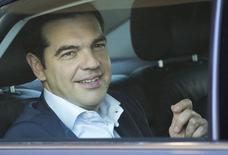 Premiê grego, Alexis Tsipras, deixa sede da Comissão Europeia em Bruxelas. 25/06/2015 REUTERS/Yves Herman