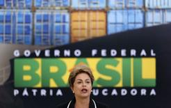 Presidente Dilma Rousseff no Palácio do Planalto. 24/06/2015  REUTERS/Bruno Domingos