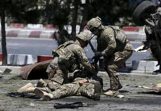 Suicide blast hits U.S. troops