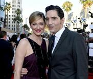 "Cast members Judy Greer and David Dastmalchian pose at the premiere of Marvel's ""Ant-Man"" in Hollywood, California June 29, 2015. REUTERS/Kevork Djansezian"
