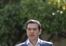 Primeiro-ministro grego, Alexis Tsipras, durante encontro em Atenas.  06/07/2015    REUTERS/Christian Hartmann