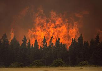 Massive wildfires in Canada