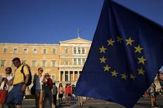 Parlamento da Grécia, em Atenas, nesta quinta-feira. 09/07/2015 REUTERS/Yannis Behrakis