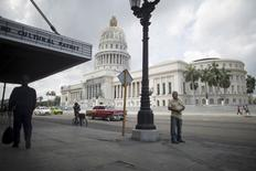 Cuba's Capitol, or El Capitolio as it is called by Cubans (R), is seen in Havana July 9, 2015. REUTERS/Alexandre Meneghini