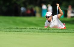 Jul 9, 2015; Lancaster, PA, USA; Ha Na Jang on the ninth green during the first round of the U.S. Women's Open at Lancaster Country Club. Mandatory Credit: Evan Habeeb-USA TODAY Sports